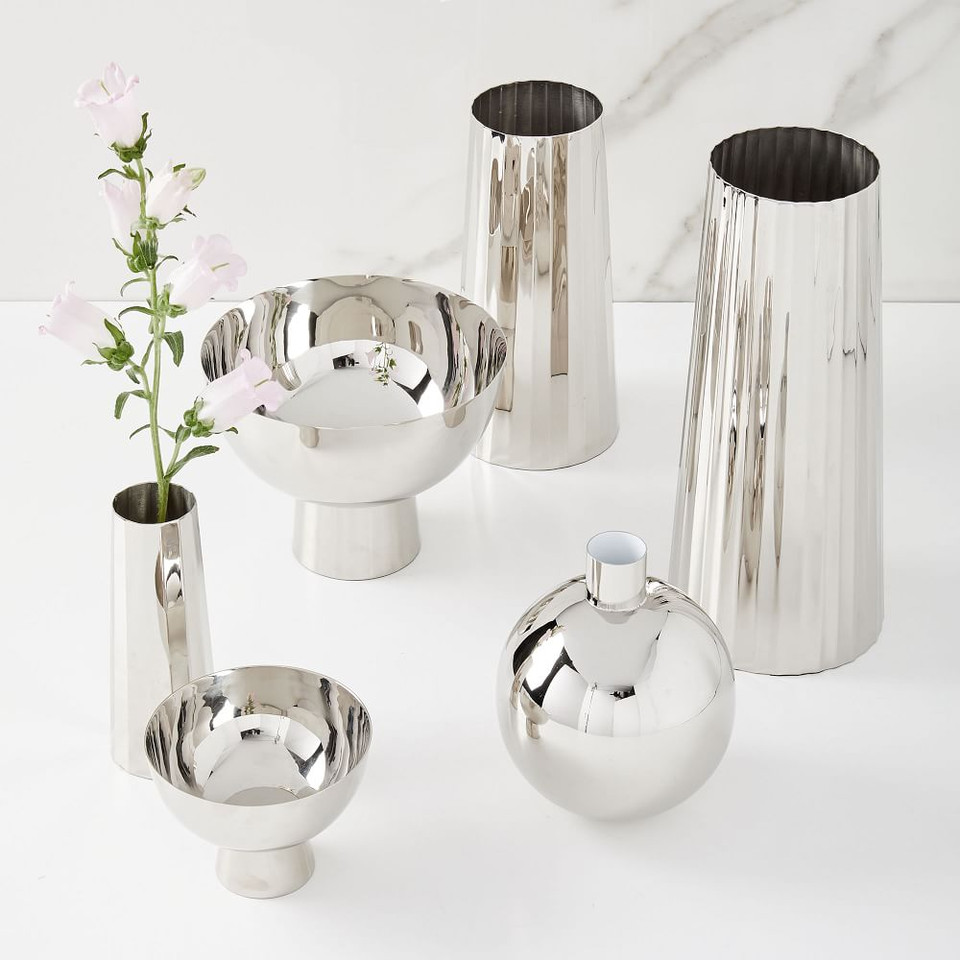 Foundations Nickel Vases