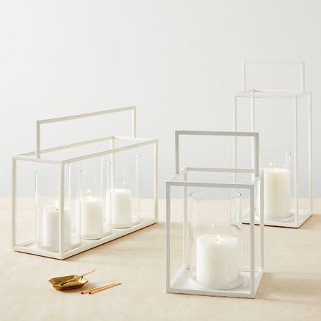 Framed Lanterns - White