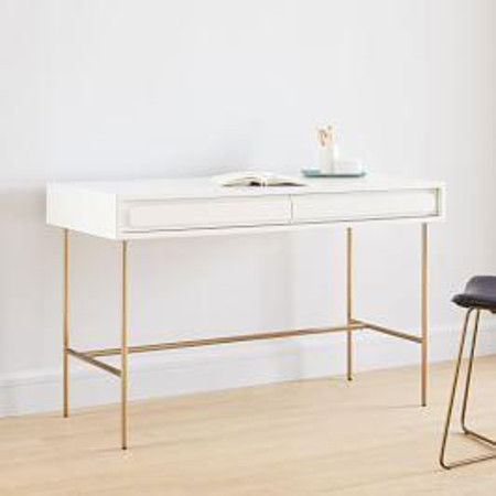Gemini Desk - White Lacquer