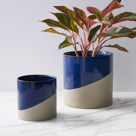 Half-Dipped Planters - Midnight