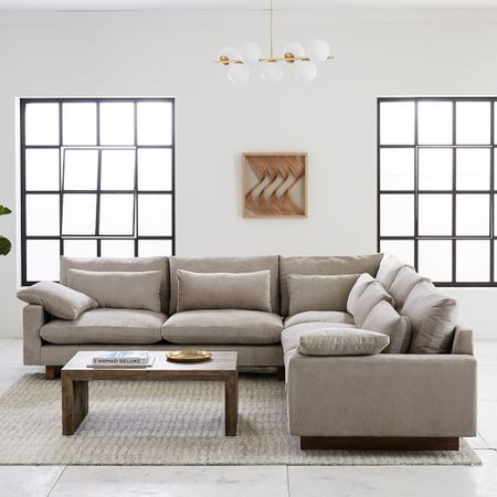 Harmony 3-Piece L-Shaped Modular Sofa