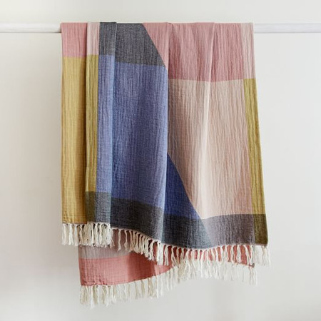 Large Geo Double Cloth Throw