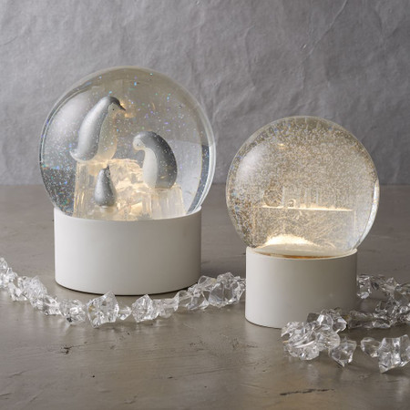 LED Light-Up + Snowing Snow Globes