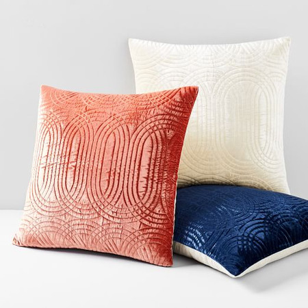 Lush Velvet Infinity Quilted Cushion Cover