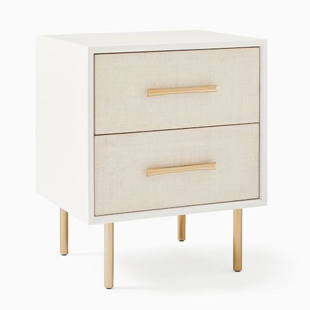 Margot Raffia Bedside Table
