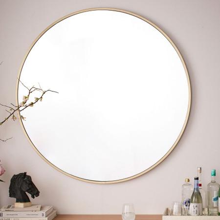 Metal Frame Oversized 48 Round Mirror, Extra Large Round Mirror 150cm