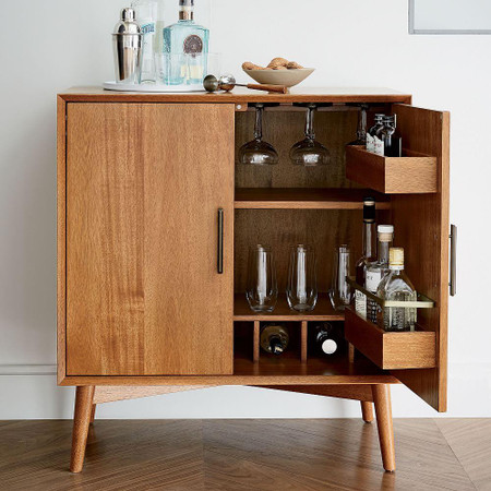 Mid-Century Bar Cabinet - Small