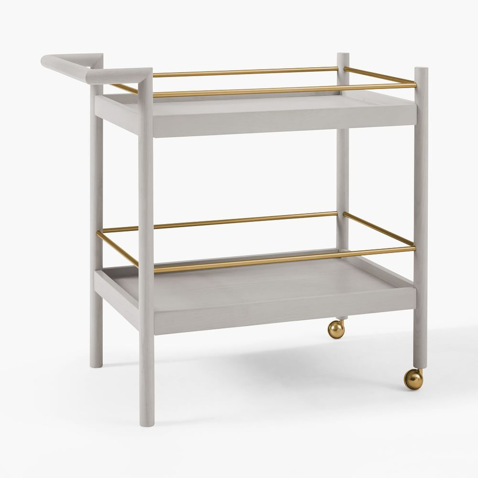 Mid-Century Bar Cart - Pebble