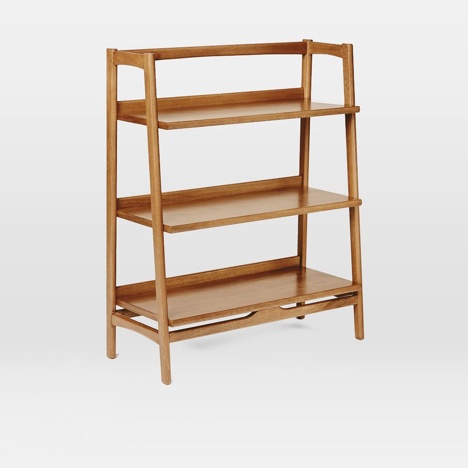 Mid-Century Bookshelf - Low Wide