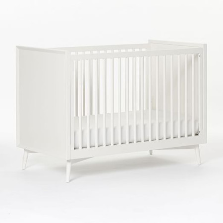 Mid-Century Convertible Cot - White