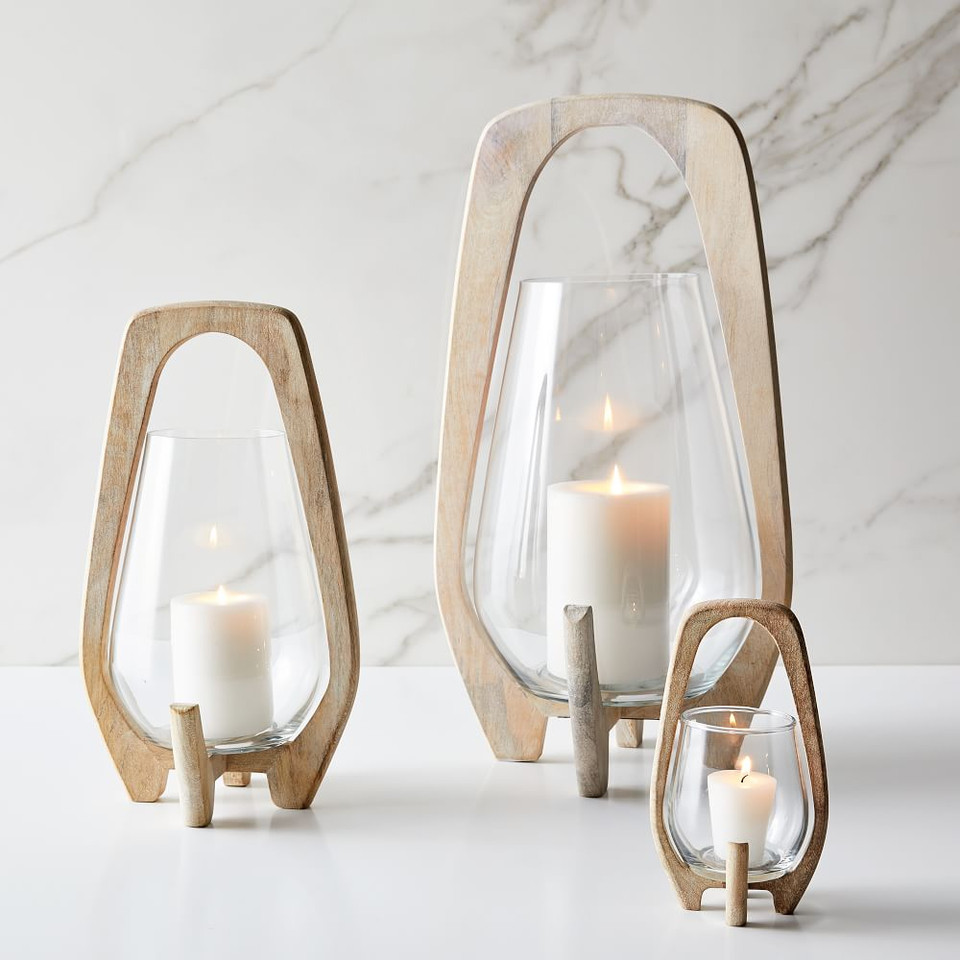 Mid-Century Lanterns - Whitewashed