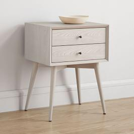 Mid-Century Bedside Table - Pebble