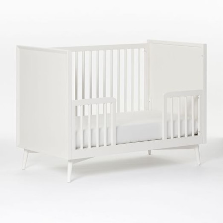 Mid-Century Toddler Bed Conversion Kit - White