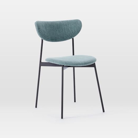 Mid-Century Modern Petal Upholstered Dining Chair