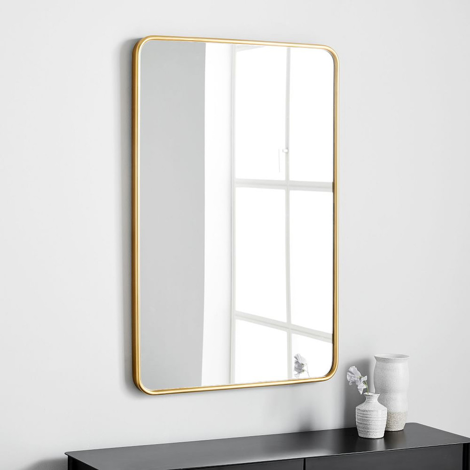 Modern Streamline Wall Mirror