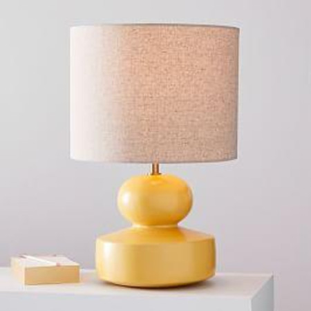 Modern Totem Table Lamps - Small (Lemon Drop)