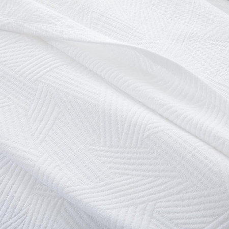 Organic Cotton Tossed Lines Coverlet