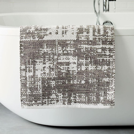Organic Distressed Texture Bath Mat - Grey Sky
