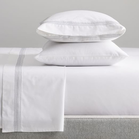 Organic Percale Pleated Sheet Set