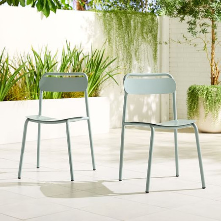 Outdoor Metal Stacking Chair (Set of 2)