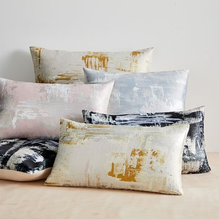 Painterly Brocade Cushion Cover