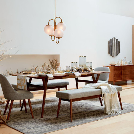 Mid Century Expandable Dining Table, Walnut Dining Room