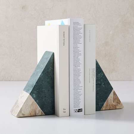 Pieced Marble Bookends