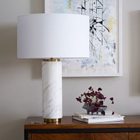 Pillar Table Lamp - Large (Marble)