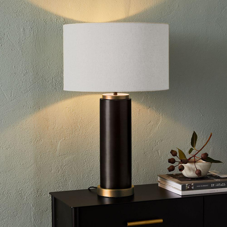 Pillar Metal Table Lamp - Large (Antique Bronze)