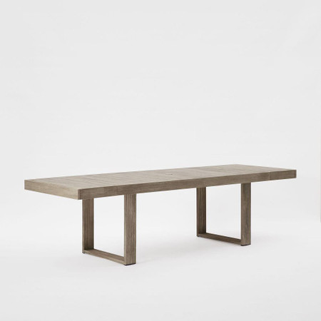 Portside Outdoor Expandable Dining Table - Weathered Grey