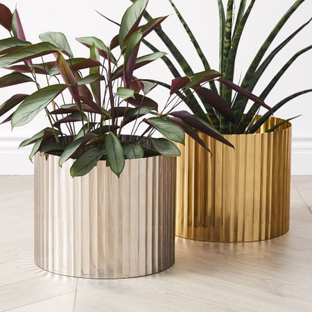 Pure Foundations Planters - Polished Brass