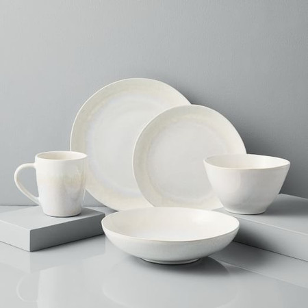 Reactive Glaze Dinnerware - White