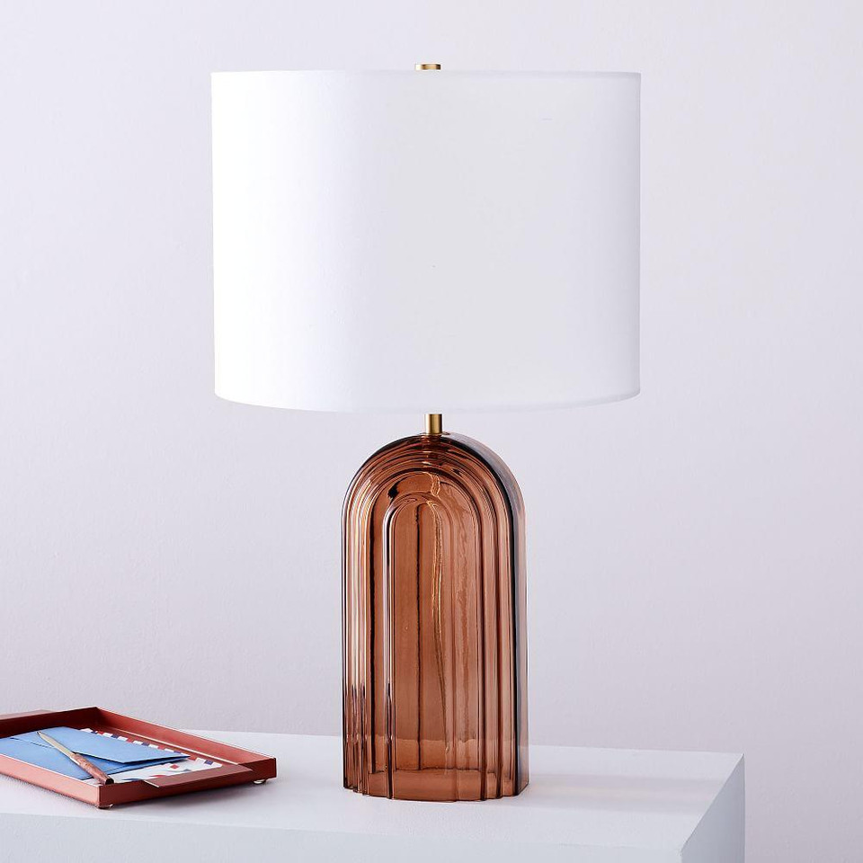 Retro Glass Table Lamp (52 cm)
