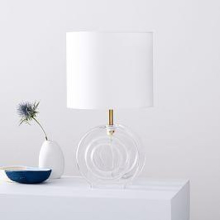 Retro Glass Table Lamp (36 cm)