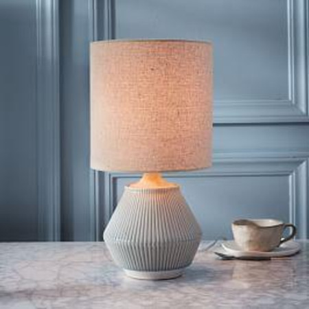 Roar + Rabbit™ Ripple Ceramic Table Lamp - Small Narrow (Cool Grey)