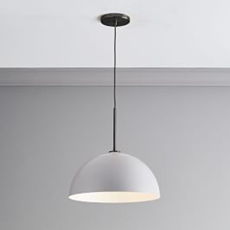 Sculptural Metal Ceiling Lamp - Large (Grey)