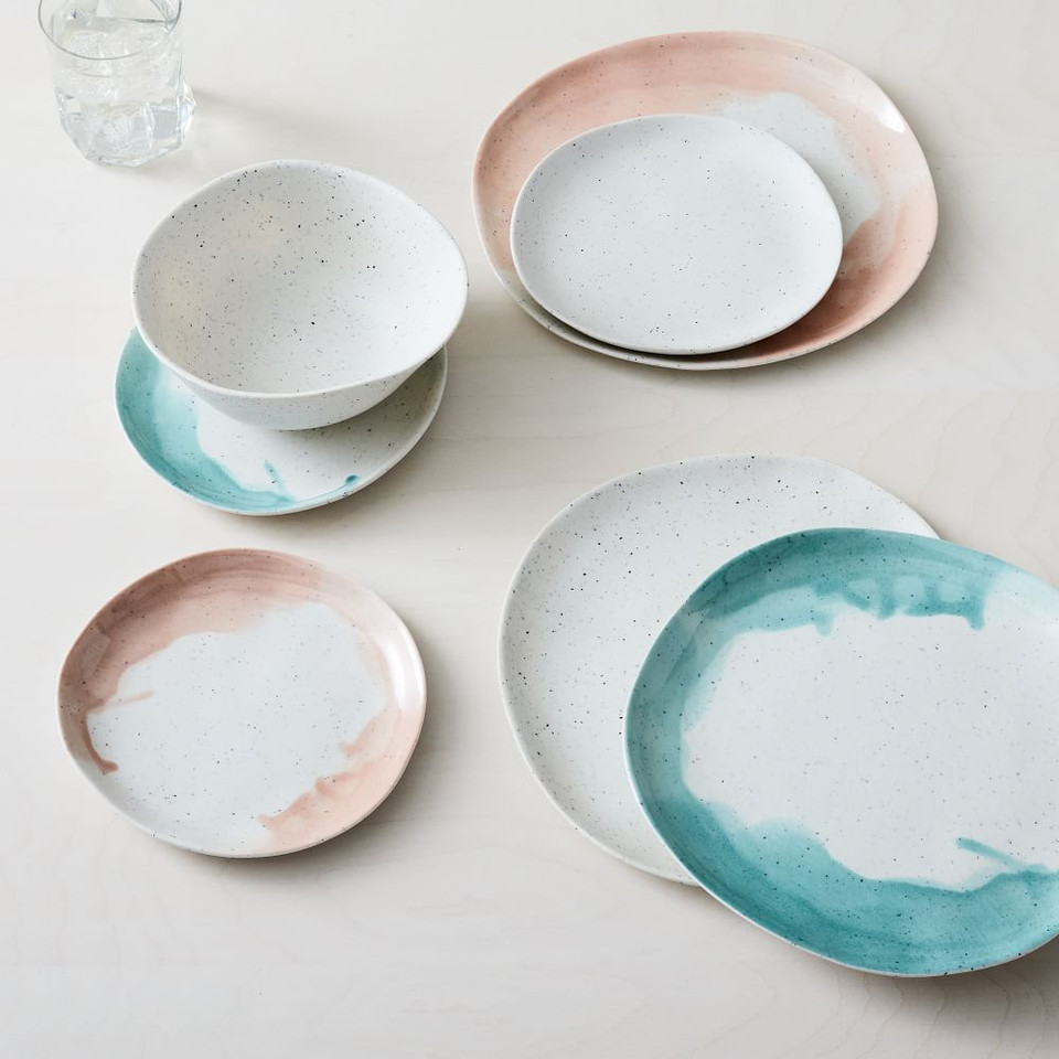 Seaside Melamine Salad Plates