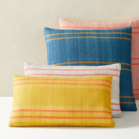 Silk Stripes Cushion Cover
