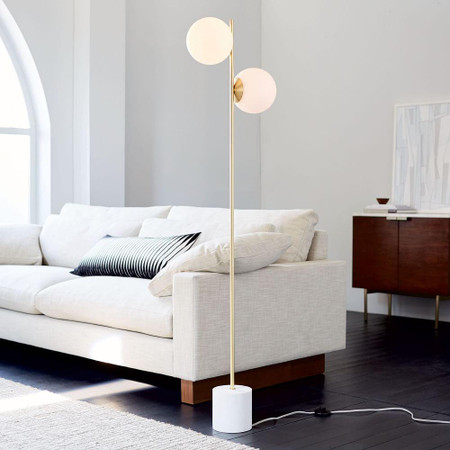 Sphere & Stem 2-Light Floor Lamp