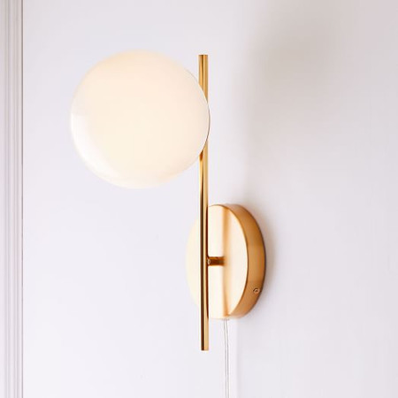 Sphere + Stem Sconce - Single