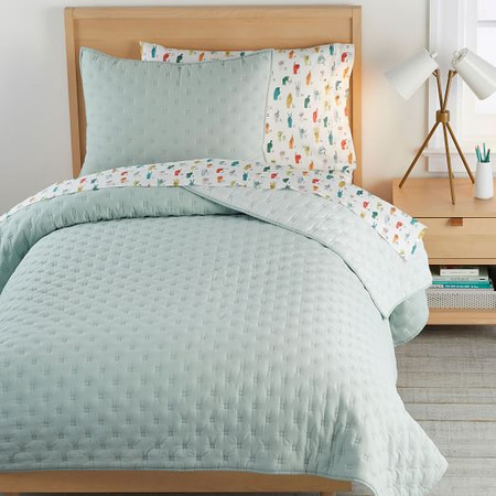 Square Stitch Coverlet & Pillowcases
