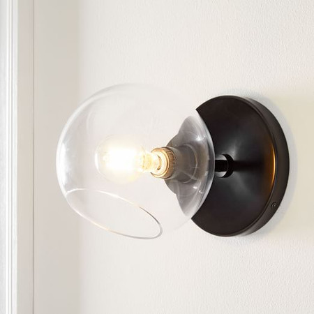 Staggered Glass 1-Light Sconce - Clear