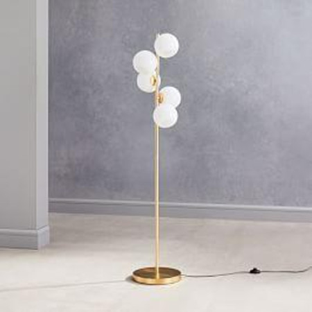 Staggered Glass 5-Light Floor Lamp