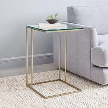 Streamline C-Side Table - Glass