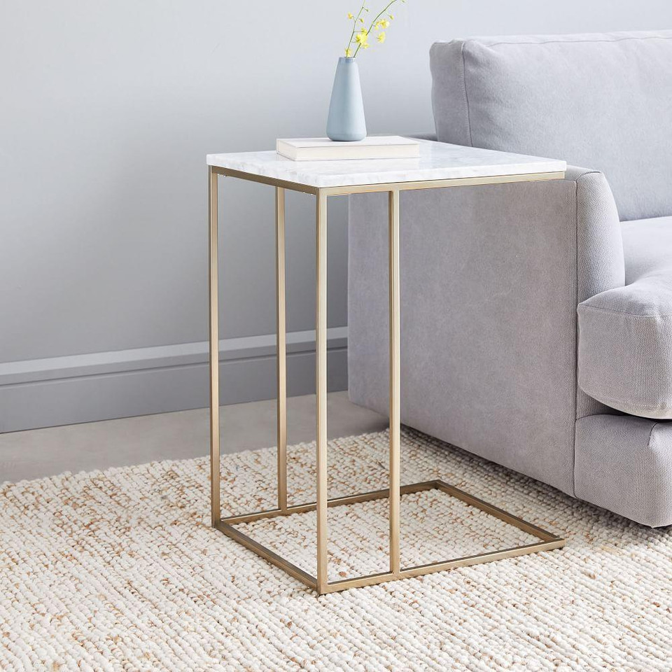 Streamline C Side Table Marble West Elm Australia