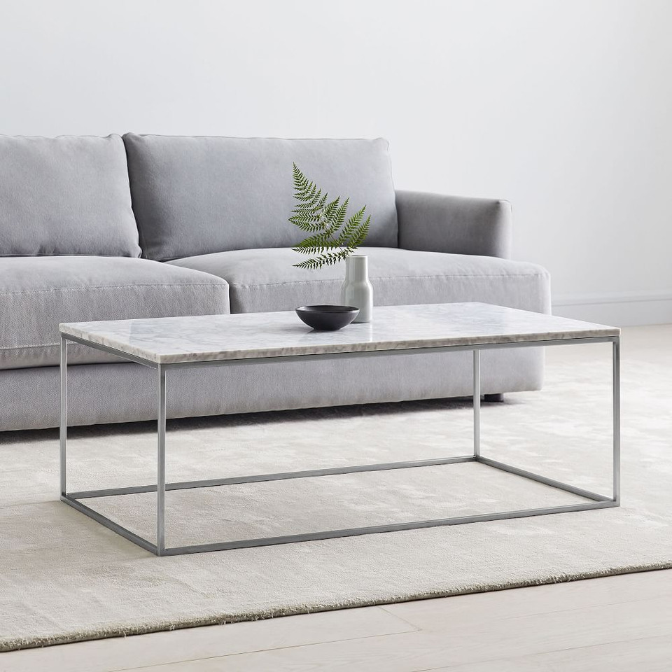 Streamline Coffee Table - Marble