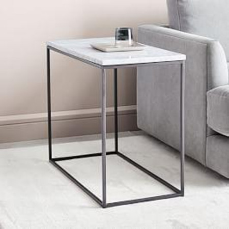 Streamline Side Table - Marble