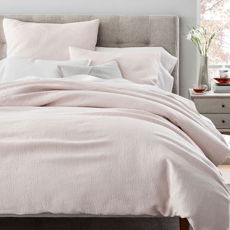 TENCEL™ Cotton Matelasse Quilt Cover & Pillowcases - Pink Blush