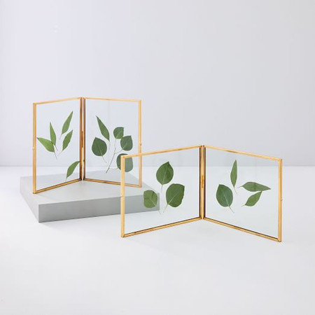 Terrace Folding Frames - Brass