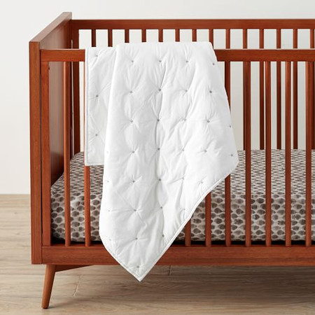 Washed Cotton Toddler Comforter - White